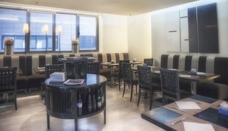 modern restaurant in Japanese style photo