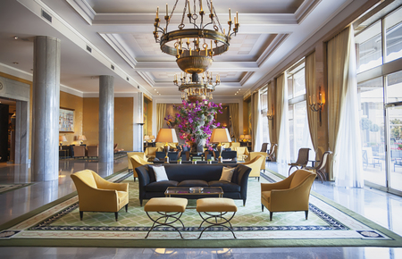 decoration of entree hall in luxury hotel Stockfoto