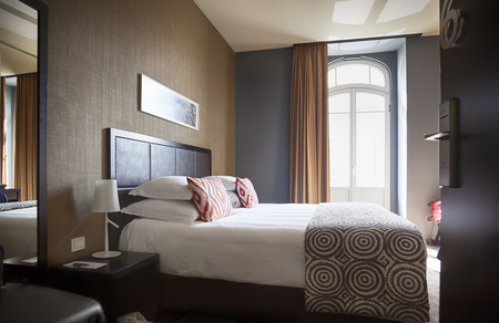 suite: interior of classic hotel room Stock Photo