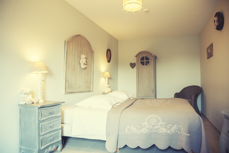 home bedroom in country stile  photo
