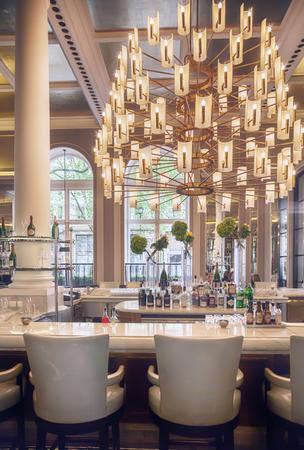 interior of wine bar in luxury restaurant