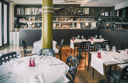 detail of interior of Italian restaurant  photo