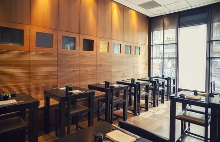 interior of traditional japanse restaurant