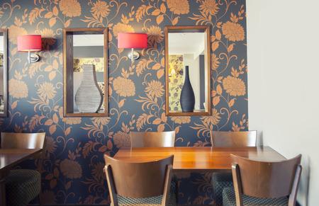 decorative wall in restaurant  interior