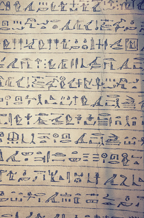 hieroglyphs: original manuscript of egyptian hieroglyphs