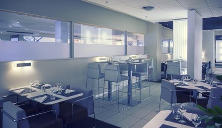 interior of new modern restaurant photo
