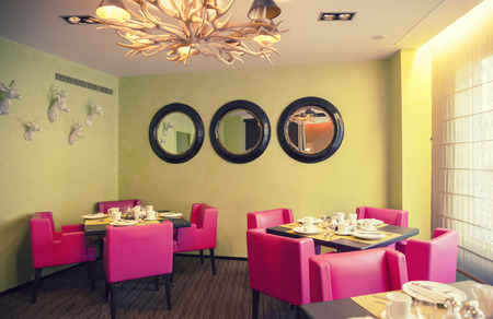 interior of new modern restaurant Фото со стока