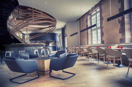 アンティークの古い建物のデザインのレストラン 写真素材