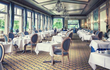 empty classical interior of German restaurant