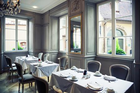 classical interior of France restaurant photo