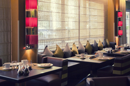 interior of new modern restaurant Stock Photo