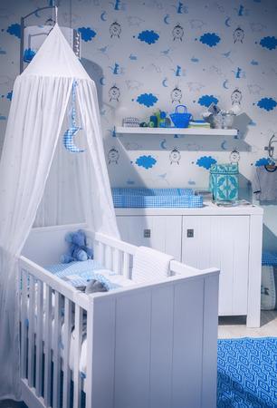 interior of boy child room Stockfoto