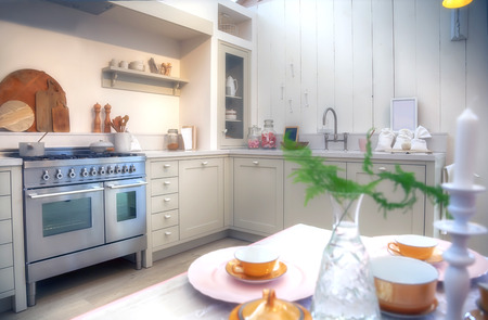 country kitchen: designed in country style kitchen Stock Photo