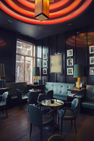 one of restaurants  in Amsterdam hotel ( Le Europe)