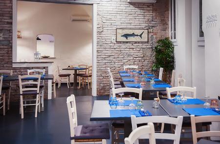 interior of italian cafe, Bologna Stockfoto
