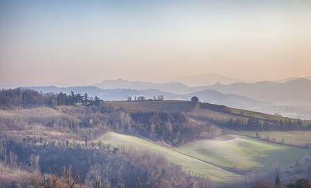 bologna: spring landscape near Bologna aria Stock Photo