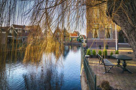 dutch typical: Volendam, old typical dutch village Stock Photo