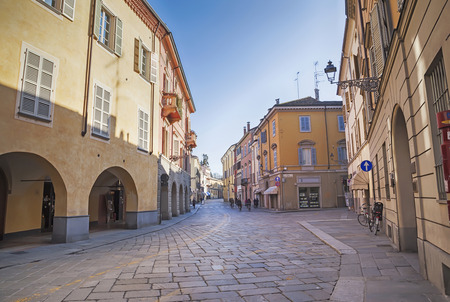 bologna: day street  in Parma, Italy, Bologna aria Stock Photo