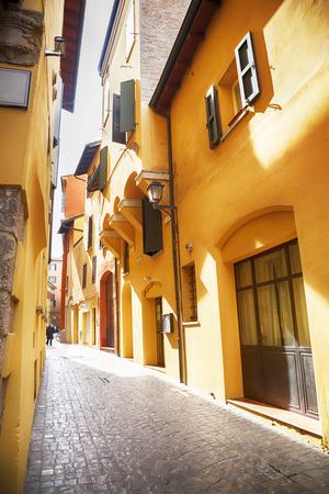 small street in Bologna, Italy Stock Photo