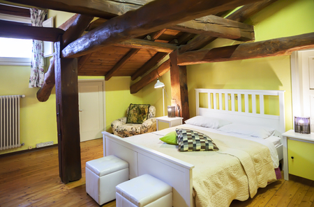 country house: sleeping room interior in Italian style