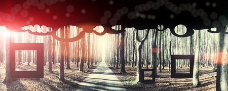 eternity: eternity, conceptual background. Image toned, noise added and vignetted Stock Photo