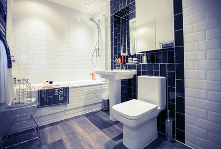 wc: interior of home stylish wc room