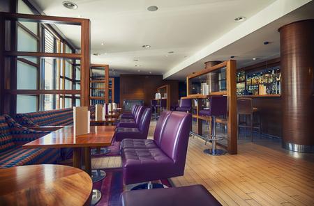 bar chair: interior of stylish bar, contemporary design Stock Photo