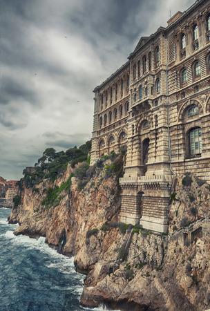 oceanographic: View of Oceanographic Museum of Monaco. Monte Carlo Editorial