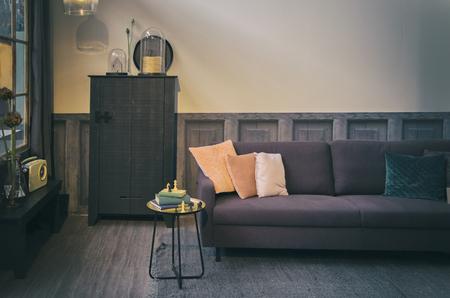 conception: Intérieur élégant salon rétro Banque d'images