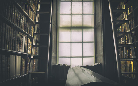 Détail de l'ancienne bibliothèque classique, Irlande Banque d'images - 50072559