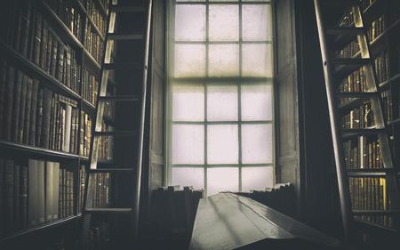 biblioteca: detalle de la vieja biblioteca clásica, Irlanda