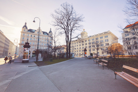 rathaus: morning of 26 December 2015 near Rathaus metro station, Vienna