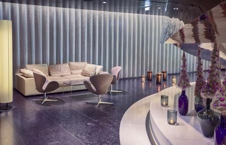lounge aria in de hedendaagse hotel, tijd van Kerstmis in Wenen