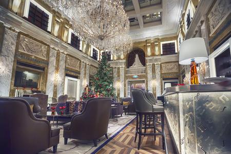 interior of Vienna Hotel Imperial in winter season Фото со стока