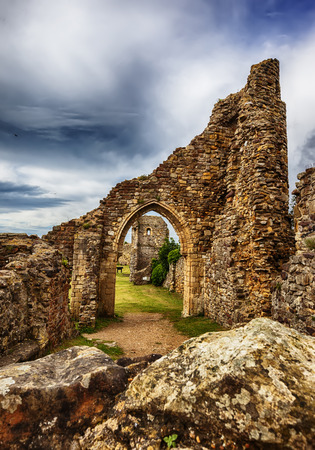 hastings: Hastings Castle  ruin situated in the town of Hastings, East Sussex.