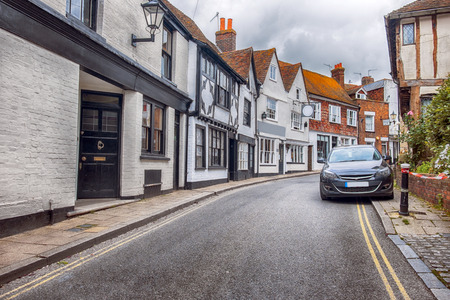 sussex: view at small street in Rye, Sussex , UK