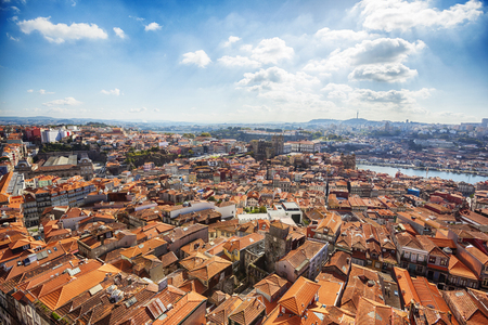 view of old historic part of Porto , Portugal