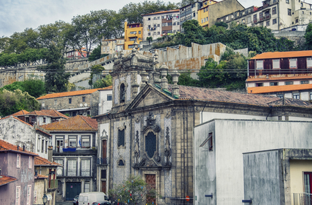 typical streets in Porto, Portugal