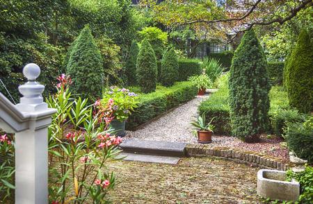 old city yard, dutch house garden, the Hague