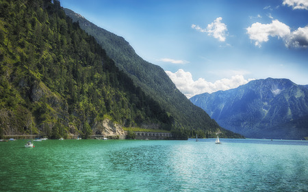 summer view of Tyrol lake Achensee, Austria Stock Photo