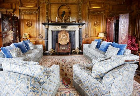 Kent, England, june 28 2016, interior of Thorpe Hall at Leeds Castle Редакционное
