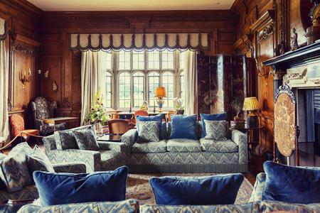 Kent, England, june 28 2016, interior at Thorpe Hall at Leeds Castle