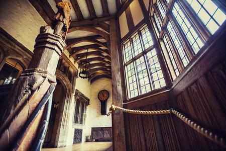 Kent, England, june 28 2016, stair in interior of Leeds Castle,