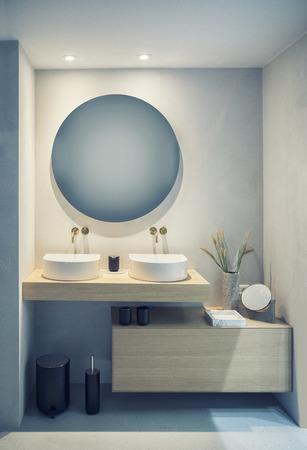 detail of bath room with decoration Фото со стока