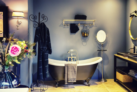 classic  interior of bath room with decoration