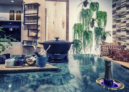 detail of interior of contemporary design kitchen Reklamní fotografie