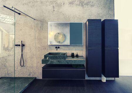 design of interior of bathroom in modern style Reklamní fotografie