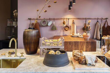detail of interior of modern kitchen with seasonal design elements Reklamní fotografie