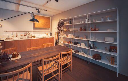 detail of interior of kitchen with seasonal design elements Reklamní fotografie