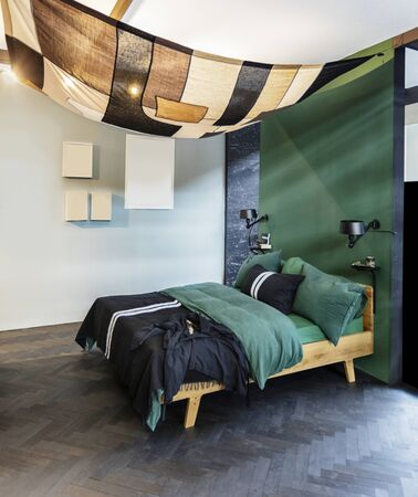 bedroom in contemporary style, detail